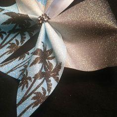 Just a glimpse ;). #bows #cheerbows #cheerleading #palmtrees #cheercamp #sassytimebows