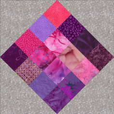 Scrap Quilt Patterns... Let's Put that Fabric Stash to Work: Sixteen Patch in a Square Quilt Block Pattern