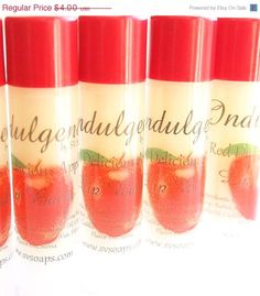 CIJ SALE Red Delicious Apple Vegan Lip Balm by svsoaps on Etsy, $3.40