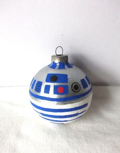 Star Wars R2D2 Painted Holiday Christmas Ornament.