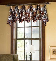 39 Window Valance Curtain Ideas (From Custom Workrooms) Custom Valances, Custom Curtains, Drapes Curtains, Narrow French Doors, Curtain Designs, Curtain Ideas, Valance Ideas, Drapery Ideas, Valances For Living Room