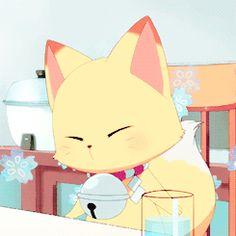 Kokkuri san. Anime Figures, Anime Characters, Inuyasha, Hetalia The Beautiful World, Barbie Swan Lake, Hand Painted Gourds, Cute Fox, Comics Girls, Cardcaptor Sakura