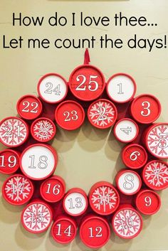 Count down to Christmas with your spouse by doing the 25 days of loving my spouse in December with a 25 day Advent wreath. Fill it with nothing but LOVE.