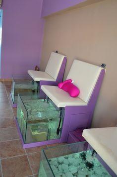 Mobile Nail Salon, Mobile Beauty Salon, Home Nail Salon, Nail Salon Design, Nail Salon Decor, Beauty Salon Decor, Beauty Salon Interior, Spa Interior, Salon Interior Design