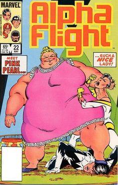 Alpha Flight 22 (1985). Cover by John Byrne
