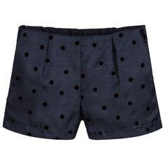 Hucklebones London Girls Spotted Blue Shorts at Childrensalon.com London Girls, Blue Shorts, Tomboy, Patterned Shorts, Casual Shorts, Trunks, Swimwear, Basket, Shopping