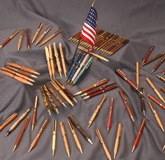 @woodcraftsupply staff, customers and volunteers turn thousands of handcrafted pens each year to thank our military personnel. Turn for Troops