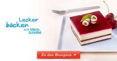 Leckeres Dessert aus cremiger Milch-Schnitte® und Kirsch-Bananensaft – schnell und einfach zubereitet.