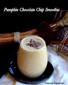 Healthy eating doesn't mean you have to sacrifice taste. Check out this Pumpkin Chocolate Chip Smoothie recipe.