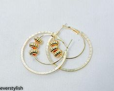 Kiss your etiquette by PUREEVERSTYLISH on Etsy Round Earrings, Kiss You, Etiquette, Etsy Seller, Unique, Creative, Gold, Jewelry, Jewellery Making