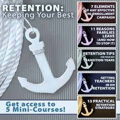 "Check out 5 mini-courses when you register for ""RETENTION: Keeping Your Best"" - via @schoolmktg"