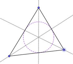 GeoGebra lessons: Circle inside of a triangle. Special points of a triangle. Math Lessons, Triangle, Coding, Chart, Teaching, Cool Stuff, Education, Programming, Onderwijs
