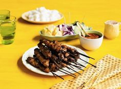 Chicken or Beef Satay with Homemade Peanut Sauce Recipe by Poh Ling Yeow