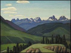 Lawren Harris  Mountain Sketch, Jasper, Athabasca Valley, c.1924