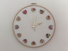 My neighbour gave me these pretty buttons so I used them to make this clock for my craft room.