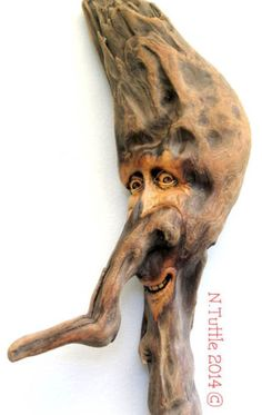 """Oh Weird One""    23 inches tall and 8 inches across his widest point  Signed and dated:   N. Tuttle 9/3/14"