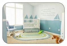 "This baby boy's nursery says ""smooth sailing"" all the way to dreamland!  http://www.unique-baby-gear-ideas.com/  #nursery #bedroom #homedecor #boysroom"