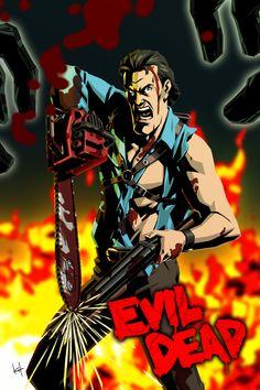 """""""Where in the hell?"""" by #kit-kit-kit on deviantART #Ash #EvilDead"""