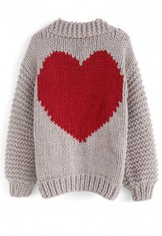 9cb0d14ebc2ec8 Handmade knit - Open front - Heart shape pattern on back - Knit fabric  provides