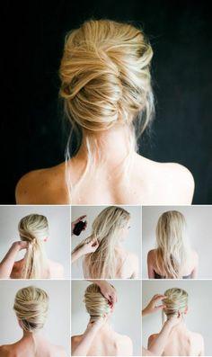 tuto coiffure cheveux courts pour les filles blondes