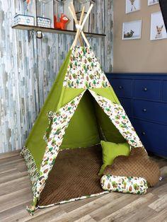 KiziaMizia Namiot tipi wigwam; namiot indiański + mata + 3 poduszki; różne warianty, zestawy Toddler Bed, Trending Outfits, Handmade Gifts, Etsy, Furniture, Home Decor, Child Bed, Kid Craft Gifts, Decoration Home