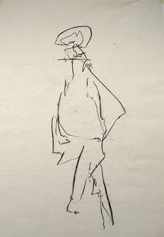 Joe Howlett 'Charcoal on paper' - Life drawing - (2012)