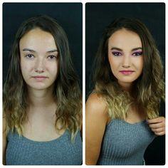 Antes y después #makeupsilvia