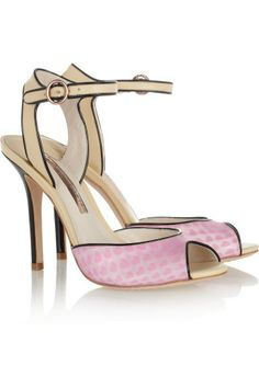 Sophia Webster | Lula hologram vinyl and leather sandals