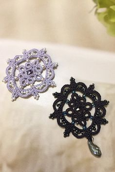 Tatting lace brooch / applique pdf pattern Cameo