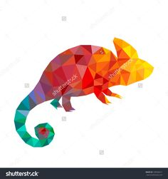 stock-photo-colorful-geometric-triangle-chameleon-abstract-animal-low-poly-199506611.jpg (1500×1600)
