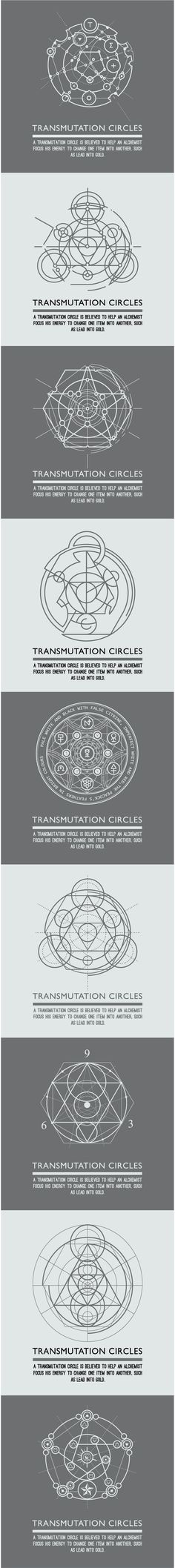 Transmutation circles - alchemical symbol - sacred geometry - can be used in…