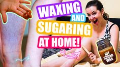 How to Wax your Legs At Home! ❤️ DIY Sugaring Wax & Waxing Tutorial