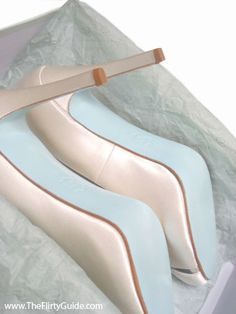 Louboutin has a special blue soled shoe for a bride. Could be your something blue!