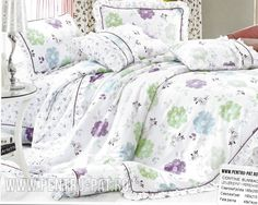 Lenjerie de pat bumbac Casa New Fashion pentru o persoana alba cu flori