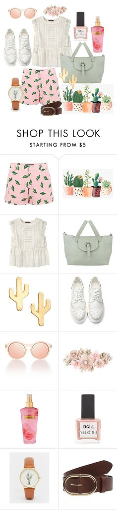 """""""Cactus Cute"""" by pearlumberger on Polyvore featuring American Retro, Violeta by Mango, Meli Melo, CAM, Accessorize, Victoria's Secret, ncLA, ASOS and Frame Denim"""