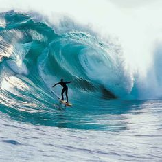 Even as giant as this wave is... eventually the waters calm down after it breaks.