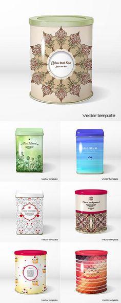 Упаковка для чая и кофе в векторе 2