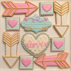 Sweet Valentine's Day Set  #thedoughmestichousewife #doughmestichousewife #decoratedcookies