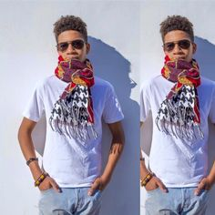 The Asebu scarf with houndstooth is available at http://www.nanayawdesigns.com/ ankara, waxprint, Ghana, traditions, accessories