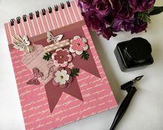 Caderno Flores em Aquarela
