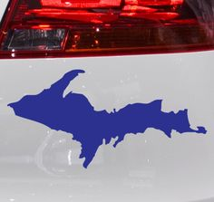 Upper Peninsula U.P. Michigan Vinyl Car Decal Bumper Sticker | Nudge Printing  #upperpeninsula #yooper #michigan #UP