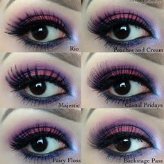 How to adorn your #eyelashes and #eyeshadow?