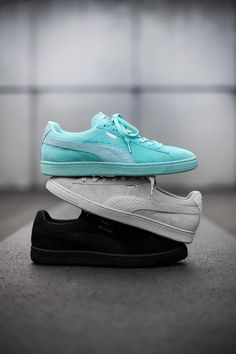 765cff82908a8f Puma Diamond Supply Classic Classic Suede Pack mint black silver  sneakers   sneakernews  StreetStyle