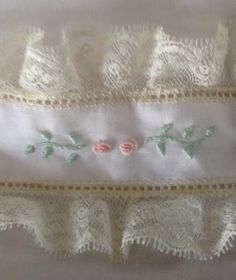 Catheryn Collins' Heirloom Creations: Pink Babette with Ecru Lace and Pastel Embroidery