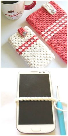 How to make crochet cell phone pouch video instructions crochet case, croch Crochet Wallet, Crochet Pouch, Crochet Gifts, Free Crochet, Crochet Quilt, Mobiles En Crochet, Crochet Mobile, Cell Phone Pouch, Cell Phone Covers