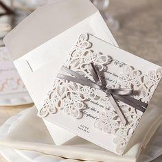 Günstige Neu Kommen! 30 teile/satz Spitze Und Band Einladungen Luxuriöse Hochzeitseinladungskarte Mit Hochzeitseinladung Umschlag, Kaufe Qualität Einladungskarten direkt vom China-Lieferanten:  = = == = = ==  achtung:die hochzeitseinladungen wir gesendet sie sindleere seite.