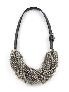 Beaded Leather Necklace.