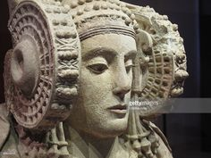 The Lady of Elche (Dama de Elche), is the most famous Iberian sculpture, bust made of limestone with polychrome, dated between the V and IV centuries BC, depicting a richly adorned woman, possibly a deity, National Archaeological Museum In Madrid, Spain.