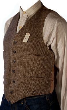 "Thirties wool tweed jacket with matching vest. ⅔rds of a suit, long separated from it's trousers. The suit model was ""The New Yorker"" Herrin..."