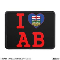 I HEART LOVE ALBERTA HITCH COVER